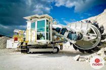 Elektrobubny VAN DER GRAFF pohání dopravníky na unikátním těžebním stroji K 100